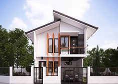 Modern House Designs Series Mhd 2014010 Features A 4 Bedroom 2 Story