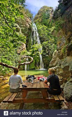 Richtis waterfall, close to Exo Mouliana village, Sitia, Lasithi, Crete, Greece #Greece #Greek #Crete #Cretan #Mediterranean #island #islands #Richtis #waterfall #canyon #gorge #Rihtis #waterfalls #cascades #canyons #gorges #trek #trekking #hike #hiking #trails #paths #ladies #sitting #Exo #Mouliana #Lassithi #Lasithi #Sitia #Siteia #nature #natural #landscape #landscapes #scenic #scenery #explore #discover #travel #destinations #sights #sightseeing #attractions Greek Islands, Beautiful Islands, Garden Bridge, Waterfall, Scenery, Stock Photos, Explore, Vacation, Landscape
