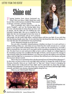 Get your inner shine on after reading this letter from the editor from Celestial Shine Magazine.