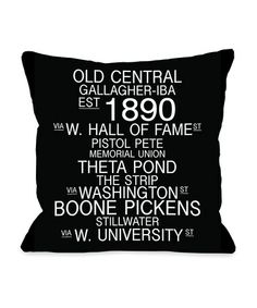 Take a look at this Black  amp  White Oklahoma Landmarks Pillow by  OneBellaCasa on   1a58c81dbab7