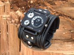 Mens wrist watch bracelet Caribs-2. Steampunk