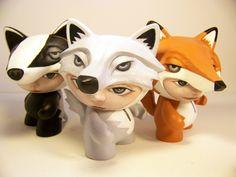 Munnyworld Customs: Woodland Creatures by Stuart Harris, via Behance