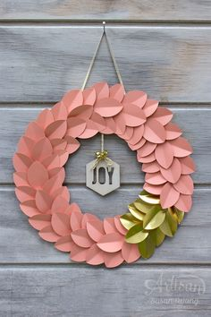 Joy Leaf Wreath ~ Susan Wong