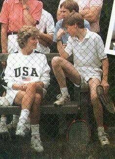 The perfect Princess Diana. wearing a U.S.A sweatshirt!  Diana Rocked!