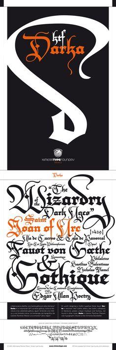 KTF Darka typeface by Gabriel Martínez Meave, via Behance