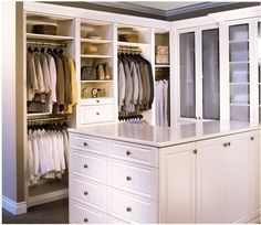 The Classic style of closets is a floor supported closet organization system. It has the look of crafted closet cabinetry and is an excellent choice for walk-in closets.