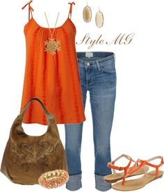 Orange you lovely...., created by romigr99 on Polyvore