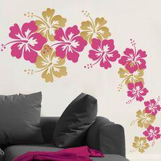 Cascading Hibiscus Flowers
