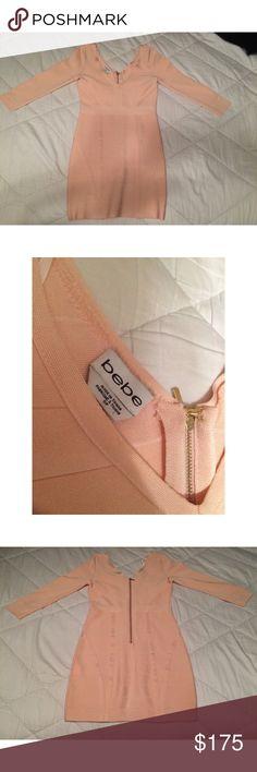 Selling this Bebe Peachy/Pink Bodycon Dress in my Poshmark closet! My username is: mrc_. #shopmycloset #poshmark #fashion #shopping #style #forsale #bebe #Dresses & Skirts
