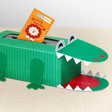 Never smile at a crocodile…except when it's a cute Valentine's Day box for your cards!