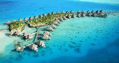 Want to stay here!...#Hilton Bora Bora Nui Resort & Spa in French Polynesia #Bucketlist