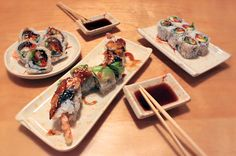 The best AYCE sushi in Toronto isn't so much food as it is a challenge. Raw fish fiends flock to these places to stuff themselves full of the maxim. Sushi Chef, Best Sushi, Sushi Restaurants, Tempura, Sashimi, Places To Eat, Japanese Food, Food For Thought