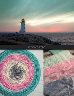 Peggy's Cove is a serene, but complex colour, transitioning from mint, to cream, to sunset pink, back to cream and then deepening into charcoal. Please note that because of the complexity of Peggy's Cove, it is only available in Killarney Sock and Niagara MCN. The Blue Brick Ombré series is a collection of long-run gradient yarns, hand dyed to match photography, and objects from the natural world. This skein will ship with the photograph used as the main product image. Ombré yarns may be…