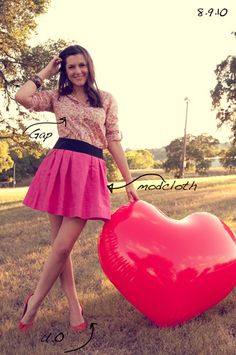 Another way to style that great pink skirt.