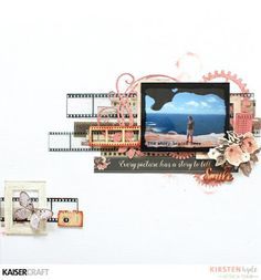 Layout with tutorial created with Kaisercraft's Keepsake collection. Created by Kirsten Hyde