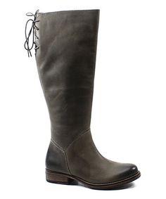 Gray Jac Kett Leather Boot #zulilyfinds