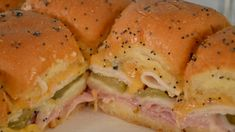 Delicious and easy recipe for Ham and Cheese Sliders on Kings Hawaiian Sweet Rolls. The perfect party food appetizer. patricks day party food crock pot Ham and Cheese Sliders Hawaiian Roll Sandwiches, Rolled Sandwiches, Appetizer Sandwiches, Party Sandwiches, Appetizer Recipes, Hawaiian Sliders, Vegan Sandwiches, Sandwich Recipes, Slidders Recipes