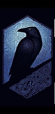 Love the detail work! Arte Viking, Viking Raven, Viking Art, Viking Symbols, Viking Woman, Viking Ship, Norse Runes, Norse Pagan, Norse Mythology