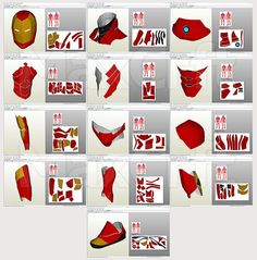 Invincible Iron Man 2015 Suit Pepakura DIY by MaxCrft on Etsy