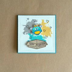 MFT Wonky Stitched dies and Distressed Patterns stamps and Avery Elle Monsters