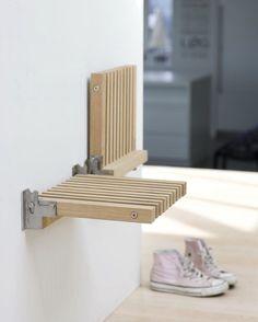 Ideia de banco para pequenos espaços. Pinterest:  http://ift.tt/1Yn40ab http://ift.tt/1oztIs0  Imagem não autoral 
