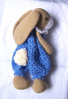 This listing is for a digital file with crochet instructions to make this soft and snuggly bunny, not the finished toy in the picture! This pattern is written in English; with American crochet terms and British crochet terms. After purchasing a digital file, you'll see a View your files