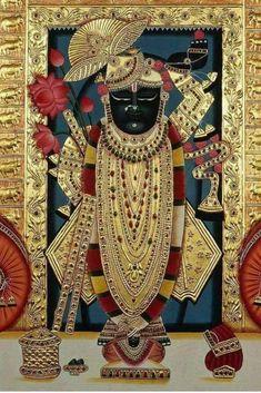 Wallpaper-world: Shreeji photo Mysore Painting, Tanjore Painting, Shree Krishna, Krishna Art, Indian Gods, Indian Art, Oil Painting Abstract, Diy Painting, Pichwai Paintings