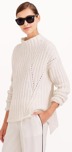 Trending Fall 2014 - Oversize, Neutrals: Nili Lotan® oversize mockneck sweater : Pullovers | J.Crew
