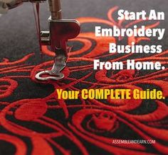 Your complete guide to joining a multi-billion dollar crafting field. Start your very own embroidery business from home, in quick time, with least investment and MAXIMUM results.
