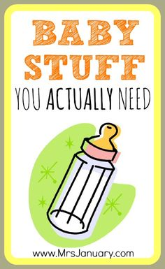 I love this list of baby stuff that you ACTUALLY need (not the stuff everyone else says you should buy)!