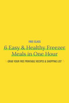 Learn how to prepare 6 Easy & Healthy Crockpot Freezer Meals in just one hour! Eating healthy and cheap has never been easier. Budget Freezer Meals, Crock Pot Freezer, Healthy Freezer Meals, Make Ahead Meals, Freezer Cooking, Easy Meals, Crockpot Recipes, Healthy Recipes, Easy Food To Make