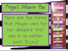 Behavior Chart...perfect for my jungle theme!