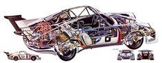 Porsche 911 RSR Turbo Illustrated by Bruno Betti