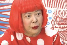 An Intimate Look Inside Yayoi Kusama's Life : The artist reveals her struggles with hallucinations, depression and obsessive-compulsive disorder. Yayoi Kusama, Painted Pumpkins, Japanese Artists, Conceptual Art, Contemporary Artists, Abstract Expressionism, Ronald Mcdonald, Pop Art, Interview