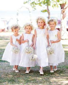 precious flower girls with baby's breath flower girl baskets