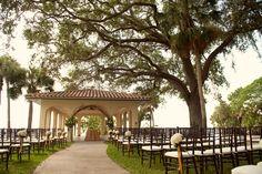 Powel Crosley wedding facing sarasota bay on the pavilion.Photos by Sarasota wedding photographer