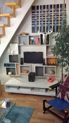 Id es cr a on pinterest office hacks ikea hacks and crates - Etagere modulable ikea ...