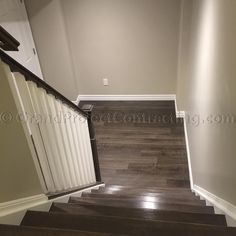 Grand Project Contracting On Instagram The Stairs Are Stained To Match Laminate Pretty