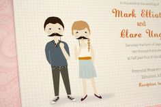 Stache Wedding Invite.
