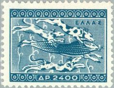 Greek Stamps - art and Thematic Old Greek, Ancient Greek Art, Stamp Collecting, Postage Stamps, Greece, Hunting, Presents, Kids Rugs, Wild Boar
