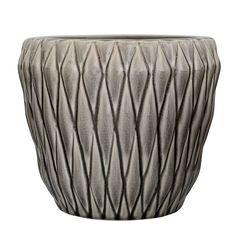 Flower Pot Ø21x18cm, Grey £22. - RoyalDesign.co.uk