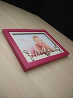Custom frame with ballerina theme. Cutting word frame. Cute for your little one.