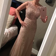 Adriana papell dress brand new Never worn!! Brand new. Make an offer this is a wonderful dress. Adrianna Papell Dresses Prom