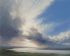 Contemporary oil painting of clouds and light near Newburgh over the River Tay Watercolor Clouds, Watercolor Landscape, Painting Clouds, Painting Flowers, River Painting, Sky Art, Oil Paintings, Seascape Paintings, Acrylic Paintings