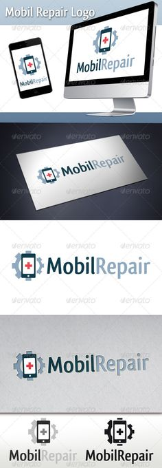 Mobil Repair Logo #GraphicRiver - Three color version: color, greyscale and single color. - The logo is 100% resizable. - You can change text and colors very easy using the named and organized layers that includes the file. - The typography used is Qlassik you can download here: .fontsquirrel /fonts/Qlassik-Medium Created: 5October12 GraphicsFilesIncluded: VectorEPS #AIIllustrator Layered: Yes MinimumAdobeCSVersion: CS Resolution: Resizable Tags: agency #business #company #computer…