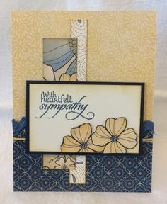 Handmade sympathy card by Emilee Ann using the New Mercies stamp set from Verve. #vervestamps