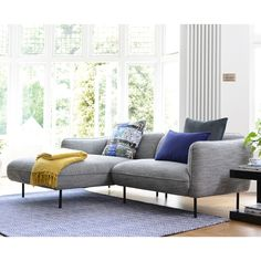 Choose from a massive range of corner sofas, sofa beds, two and three seater sofas in an array of colours and materials. Corner Sofa Dark Grey, Corner Sofa Modern, Corner Sofa Design, Three Seater Sofa, Living Room Grey, Living Room Inspiration, Outdoor Sofa, Sofas, Armchairs