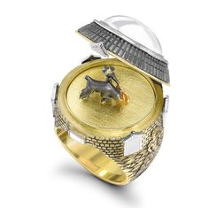 Theo Fennells new Matador Opening ring opens to reveal a bullfighter and beast in elegant battle.