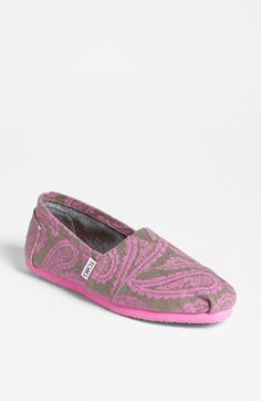 TOMS 'Classic - Neon Pink Paisley' Slip-On (Women) (Exclusive Color) | Nordstrom