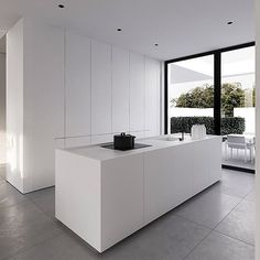 This clean interior design of a detached house in Warsaw, by Tamizo Architects, depicts a serene take on modern day living style, with a spacious open plan visi Interior Design Kitchen, Modern Interior Design, Interior Architecture, Interior Decorating, Modern Decor, Rustic Modern, Interior Paint, Modern Contemporary, Modern Farmhouse